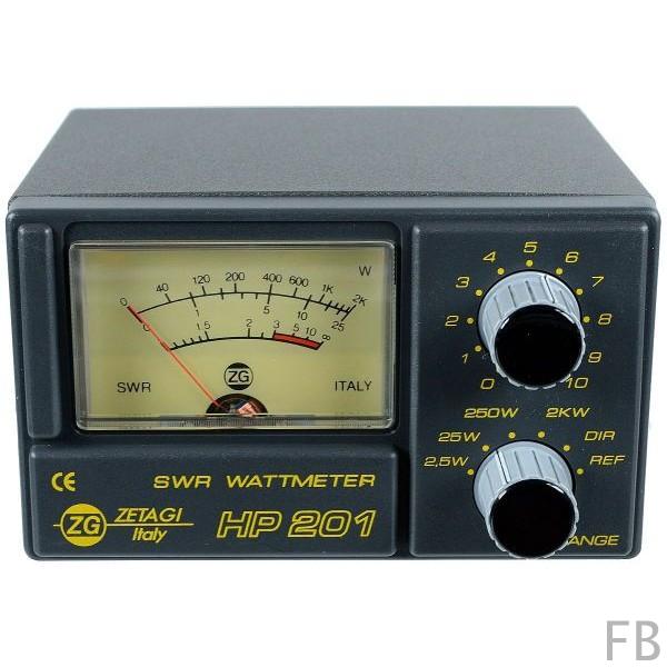Zetagi HP-201 SWR-Wattmeter 3-200 MHz von 26-30 MHz