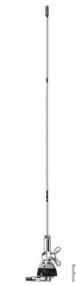 Sirio SMA 55-550 / S Antenne Lambda 1/4 Mobilantenne 55-550 MHz abstimmbar