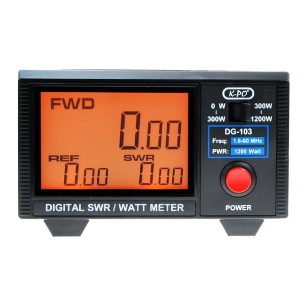 K-PO DG-103N SWR/Watt Meter mit LC-Display