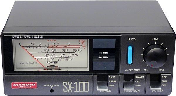 Diamond SX-100 SWR/Wattmeter für 1,6 - 60 MHz bis 3000 Watt