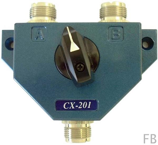Albrecht CX-201 N 2-fach Antennenumschalter 0-500 MHz N-Norm-Buchsen