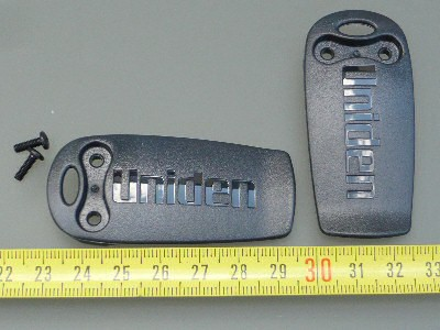 Uniden Bearcat Gürtlclip mit Schrauben für Handscanner