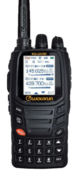 Wouxun KG-UV9K Plus VHF/UHF Crossband Dualband Handfunkgerät mit AIR-RX