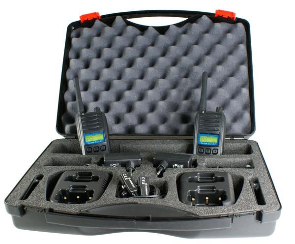 Albrecht Tectalk Duro BT Bluetooth PMR446 Handfunkgeräte Koffersetfer