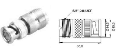 Adapter BNC-Stecker auf PL-Buchse