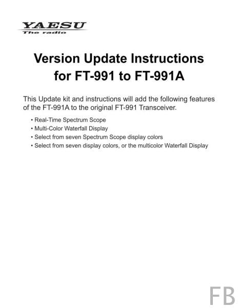 YAESU Upgrade Kit für FT-991 Transceiver auf Wasserfalfunktion